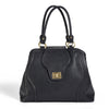The Gail Satchel Diaper Bag comes in a contemporary Black.