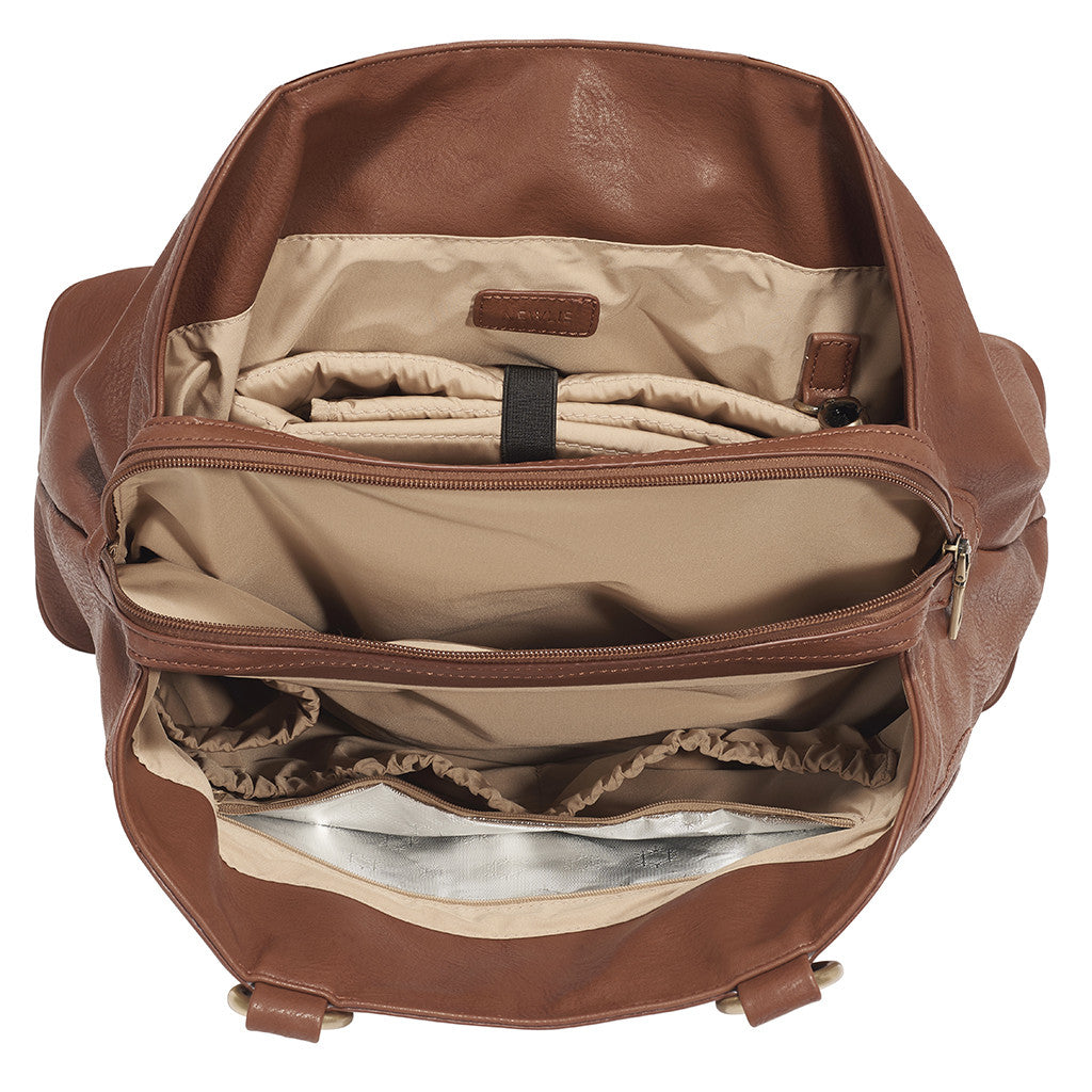 The Sandlewood Gail Satchel Diaper Bag will fit everything the modern mom needs.