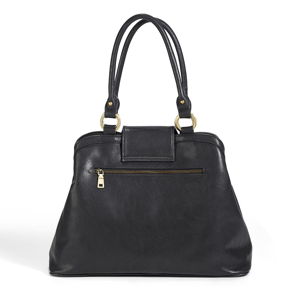 Newlie's Gail Satchel comes in a fashion-forward Black.