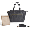 Our signature insulated pocket fits inside of the room Lily Tote Diaper Bag in Black.