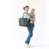 You need a transitional Diaper Bag during those transitional years. Newlie's Lily Tote in Black is just the piece for you.