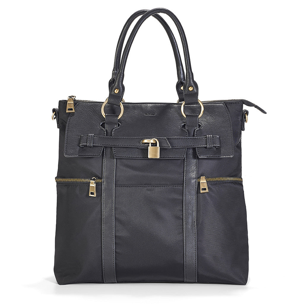 Louise Backpack Diaper Bag comes in a smart Black.