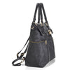 Louise Backpack Diaper Bag in Black side view.