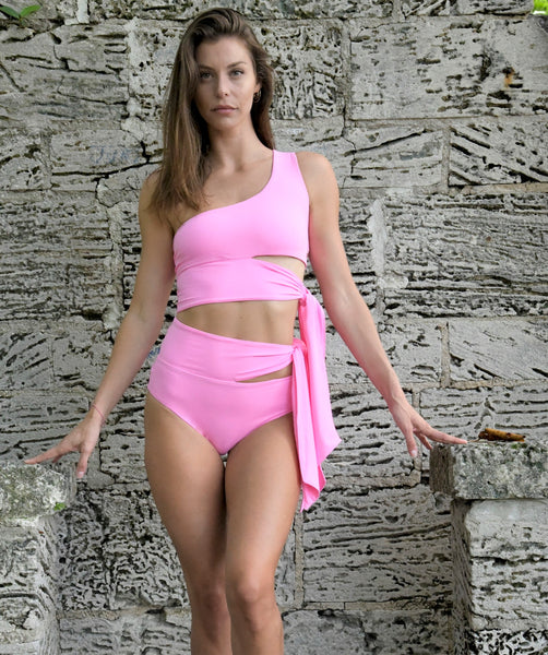 Surf Souleil Goddess Bikini Top in Passion Pink