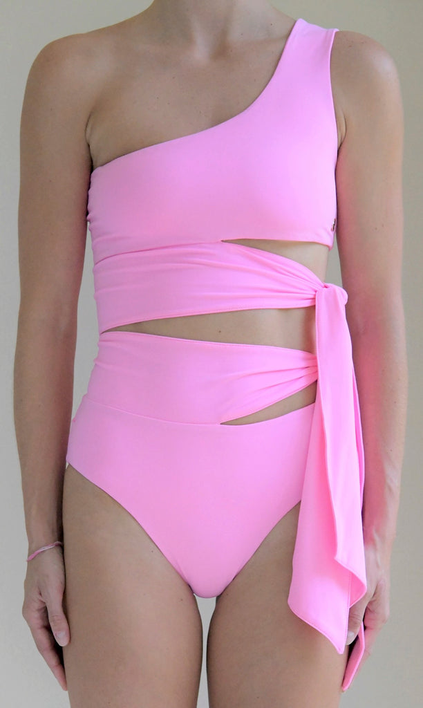 Surf Souleil Goddess Bikini Bottom in Passion Pink - Surf Souleil