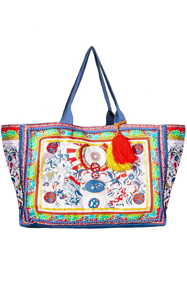 Amalfi Beach Bag Blue By Debbie Katz - Surf Souleil