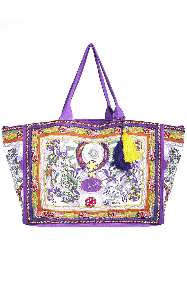 Amalfi Beach Bag Lilac By Debbie Katz - Surf Souleil