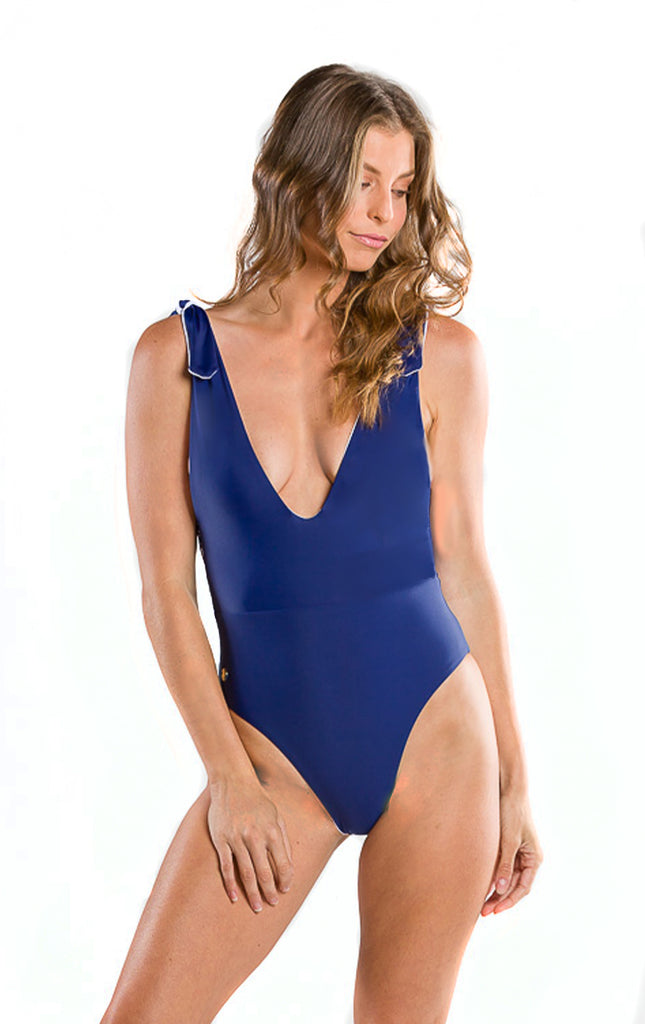 Surf Souleil's Arinna One Piece jn Navy Seamless and Reversible - Surf Souleil