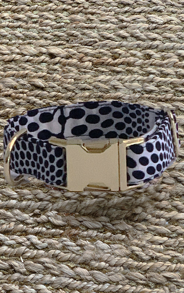 Doggy Collar - Navy Sun Dots - Surf Souleil