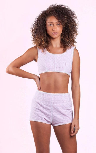 Surf Souleil Hello Lover Eyelet Short Set