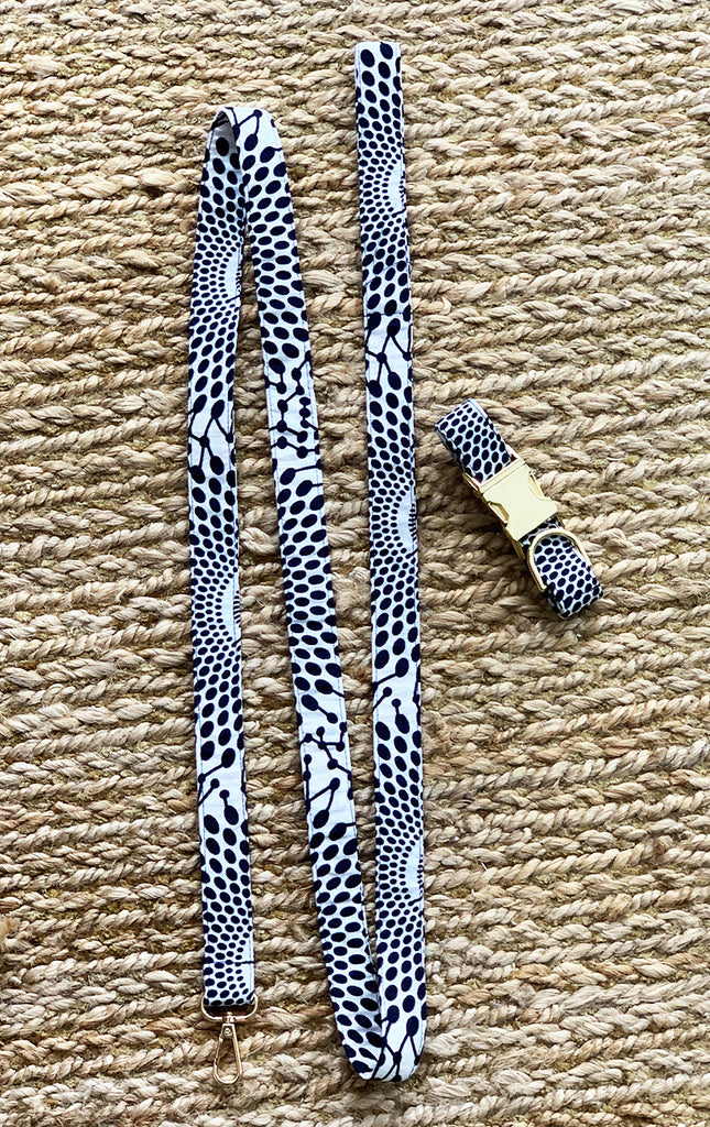 Doggy Matching Leash - Navy Sun Dots - Surf Souleil