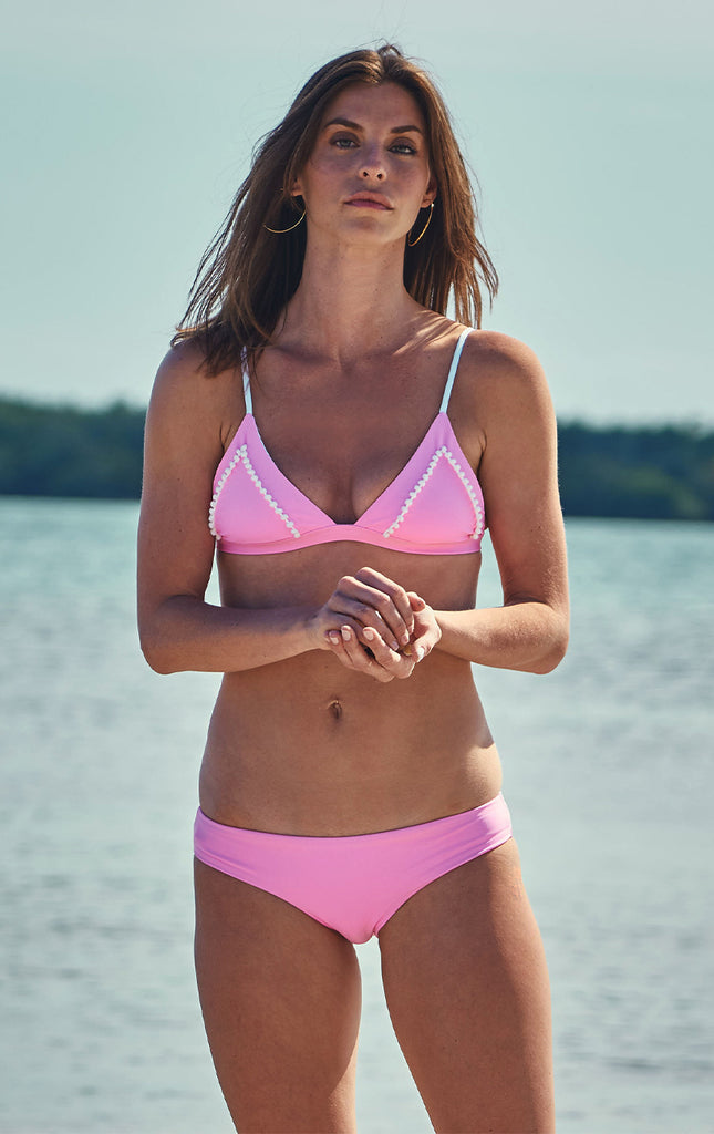 Surf Souleil Malina Bralette in Passion Pink - Surf Souleil