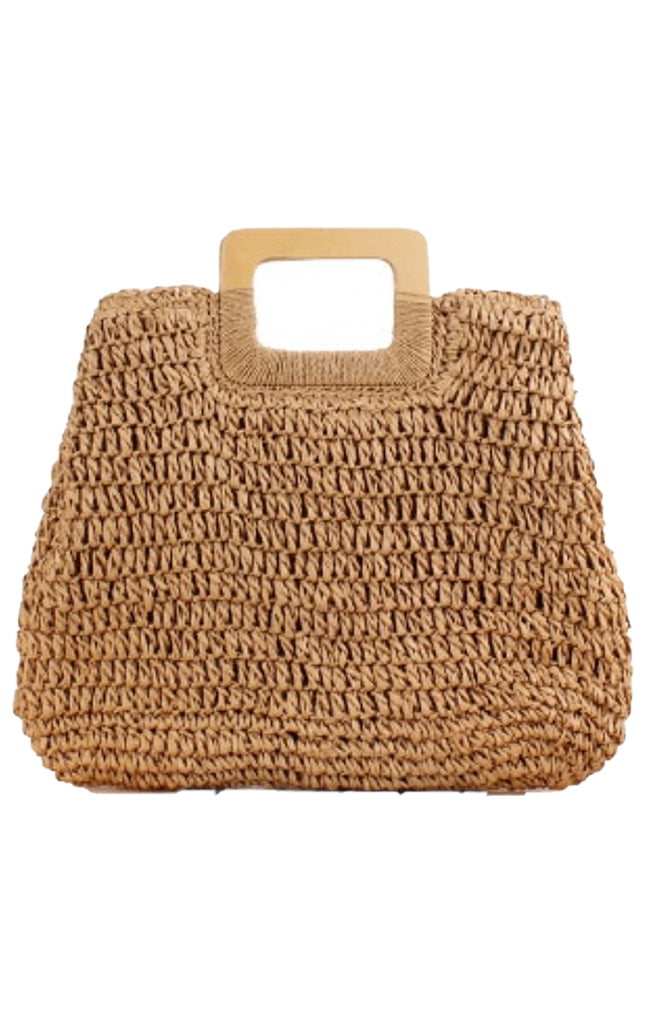 Boho Straw Beach Bag
