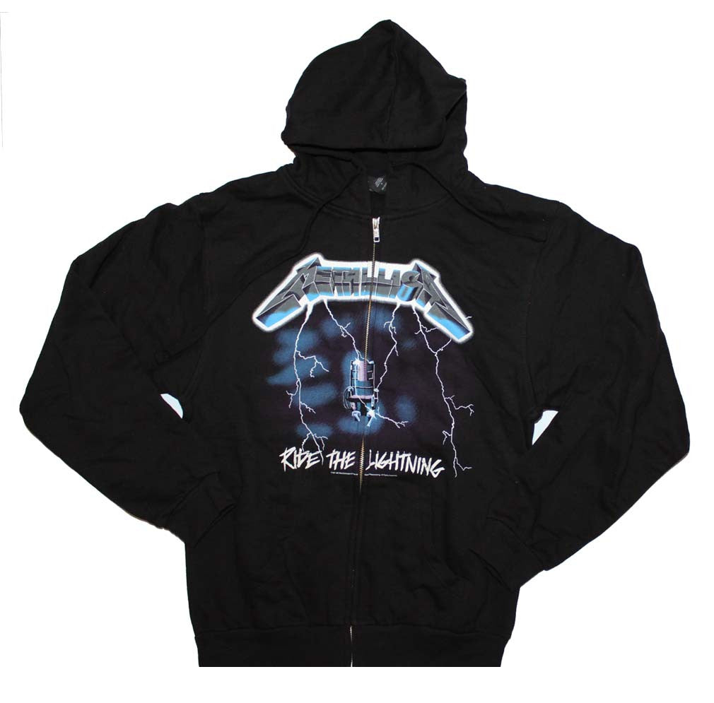 Metallica Ride the Lightning Zip Front Hoodie