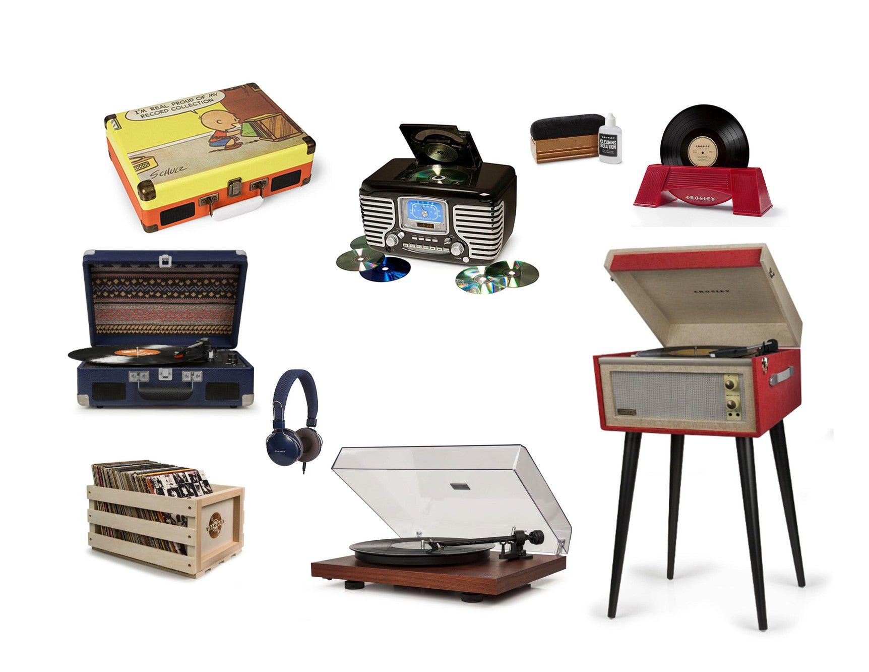 New Vinyl Record Players Retro