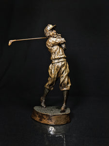 "Mark Hopkins Bronze Golf Series Sculpture called "" Fairway "" Made in USA"