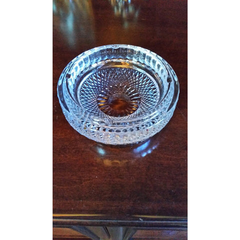 "Waterford crystal 7"" round Ashtray Preowned Good Condition"