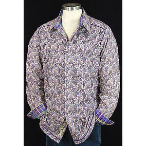 Robert Graham Flute Dusk Medium-sized Shirt New With Tags