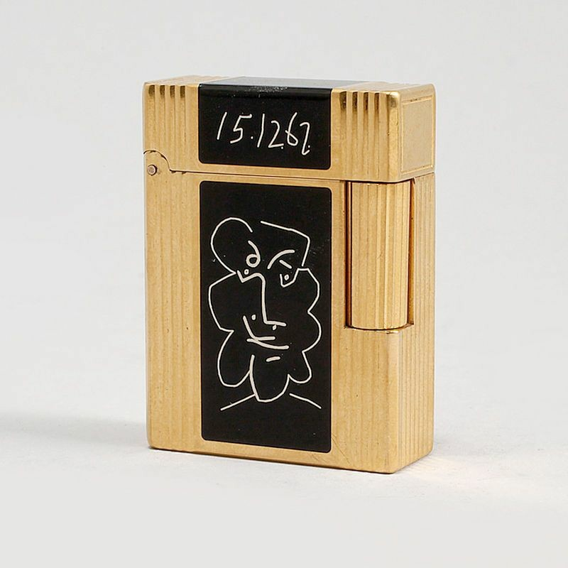 s.t.dupont picasso line 1 pre-owned lighter with box