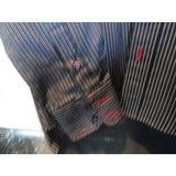 ARTIME mens casual designer dress shirt with striped with crystals Large Preowned Good Condition