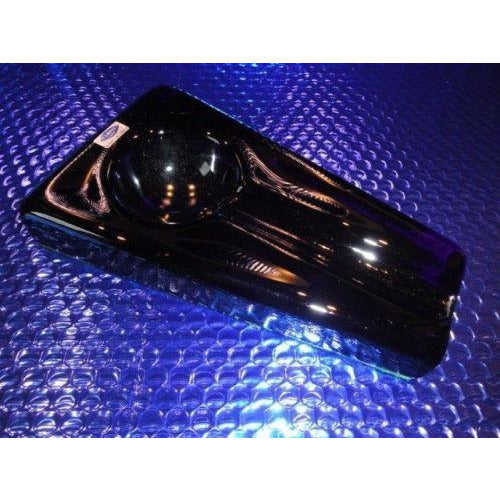 Comoy's Cobalt Blue Heavy Glass Ashtray