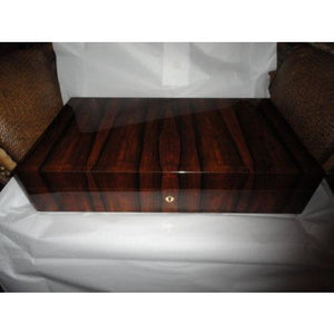 Elie Bleu Ebony  Vertical Humidor 110 Count NIB Made in France