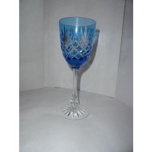 Faberge Odessa Sky Blue Hock Crystal Wine Glass