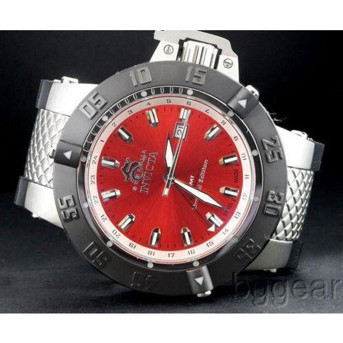 Invicta 0780 Men s Subaqua GMT Limited Edition Polyurethane Bracelet Watch