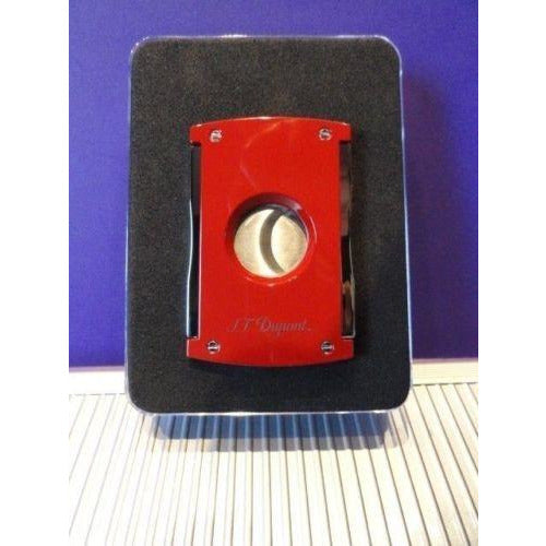 S.T.Dupont  Cigar Cutter in red lacquer with Leather Pouch