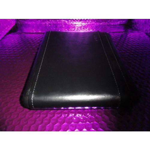 savoy cigar case black leather