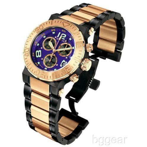 Invicta Model  6765 Reserve Chronograph 18k Rose Gold-Plated and Black Watch