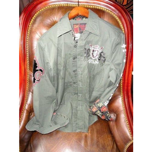 Rebel Spirit Mens Causal Shirt   -Pre-Owned size Medium