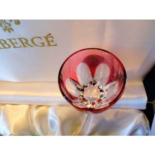 Faberge Lausanne Crimson Red  Vodka Shot Glass without  the box