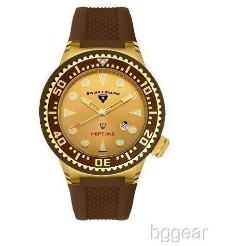 Swiss Legend Men's Neptune Gold & Brown Watch