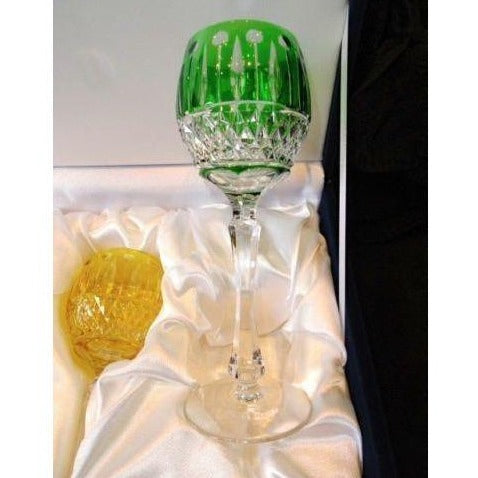Faberge Xenia Green Goblet  Glass  new without  the box