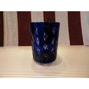 Faberge Cobalt Blue  Crystal  Old Fashion Glass