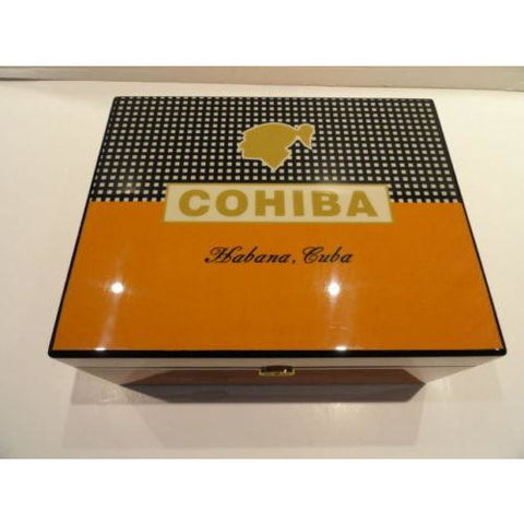 Cohiba Brown Leather  Cigar Case holds 2  Large Cigars & Cohiba Humidor