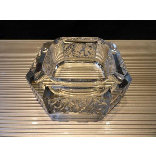 "zodiac ashtray without the original box 5.5"" x5.5' preowned"