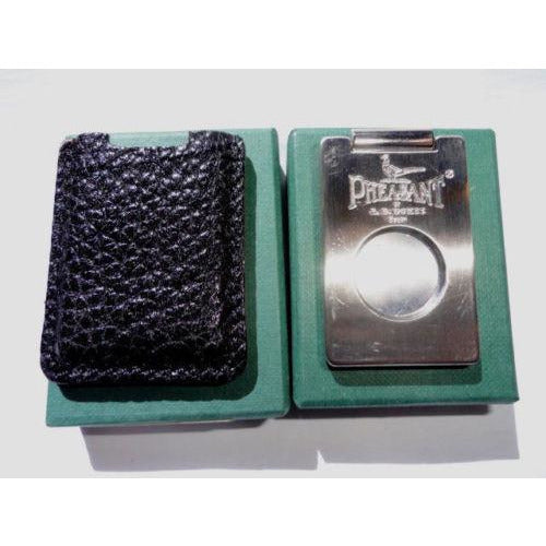 Pheasant by R.D.Gomez Stainless Steel  Cutter in Black Karabu Leather BNIB
