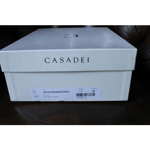 Casadei Ladies Plexi-Wedge Slingback Sandal new in the original box size 38