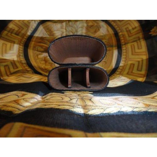 Andre Garcia Rugato Black  Lizard Skin  leather cigar case  in the original box