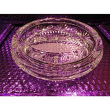 Cut Crystal  Ashtray handmade in Slovakia