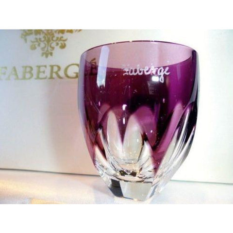 Faberge Lausanne Purple Vodka Shot Glass without  the box