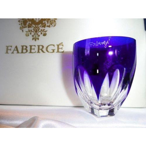 Faberge Lausanne Cobalt Blue  Vodka Shot Glass without  the box