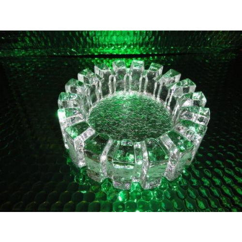 clear glass sprocket cigar ashtray mint condition