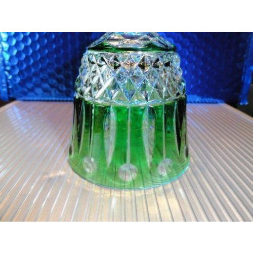 Faberge Xenia Emerald  Green Crystal Wine Glass without box