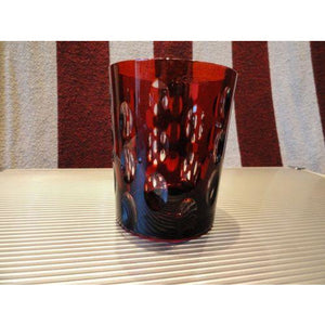 Faberge Ruby Red  Crystal  Old Fashion Glass