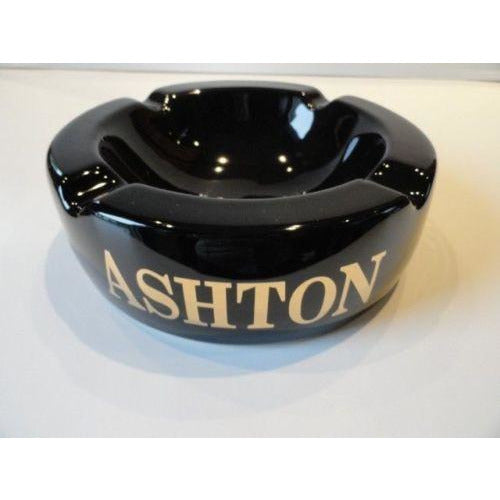 Ashton Cigar Logo Large Ceramic Ashtray holds 4 cigars new in the original box