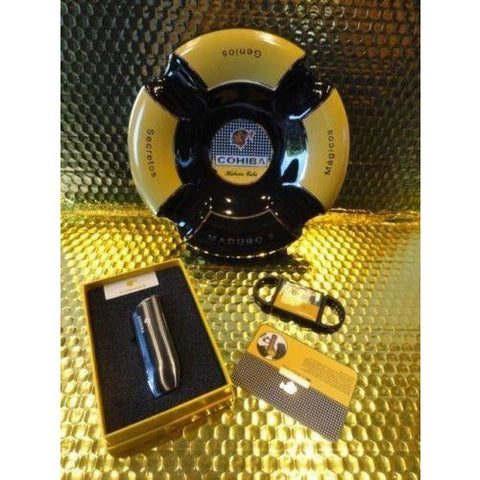 cohiba ashtray , lighter & cutter