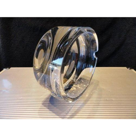 "clearf heavy glass  ashtray 6.25"" Diameter by 3"" High"